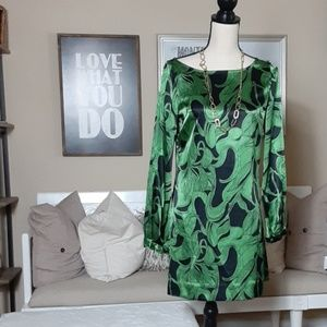 BCBG MAXAZRIA Green and Black Dress (XS)